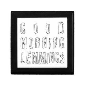 good morning lemmings keepsake boxes