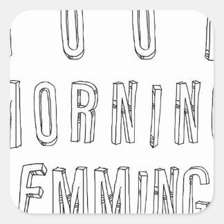 good morning lemmings sticker