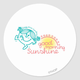 Good Morning Little Miss Sunshine Classic Round Sticker