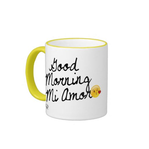 Good Morning Mi Amor Images : Good morning mi amor with kissy face smiley ringer coffee