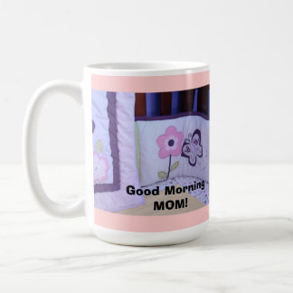 Good Morning Mom mugs gifts Baby Booties Crib