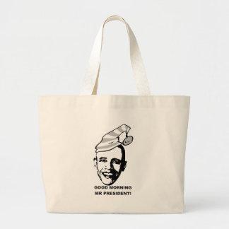 Good Morning Mr P. Large Tote Bag