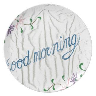 good morning dinner plates