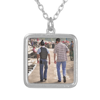 Good Morning Saratoga on Opening Day Silver Plated Necklace