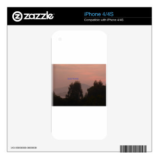 Good Morning Skin For iPhone 4