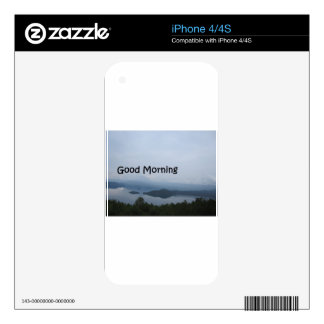 good morning skins for the iPhone 4