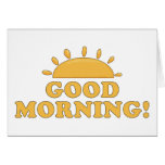 Good Morning Sun Greeting Card