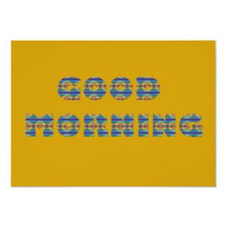 GOOD MORNING SUNRISE BEACH BLUE OCEAN ORANGE SAND CARD
