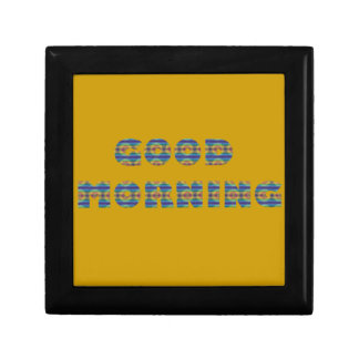 GOOD MORNING SUNRISE BEACH BLUE OCEAN ORANGE SAND KEEPSAKE BOX