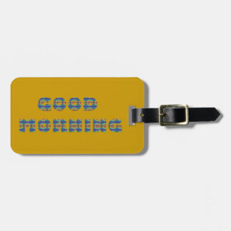 GOOD MORNING SUNRISE BEACH BLUE OCEAN ORANGE SAND TAG FOR BAGS