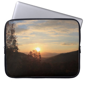 Good Morning Sunrise Over the Valley-Mountains Laptop Sleeve