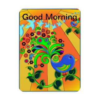 Good Morning Sunrise with Bird Flexible Magnets