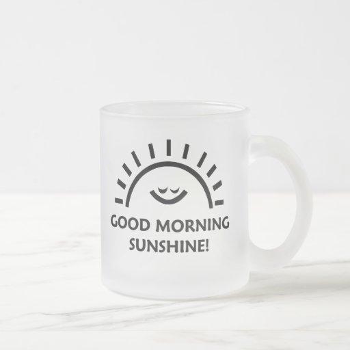 Good Morning Sunshine Wine : Good morning sunshine oz frosted glass coffee mug zazzle