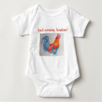 Good Morning Sunshine Baby Bodysuit red rooster