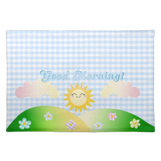 Good morning sunshine cloth placemat