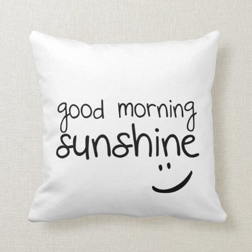 Good Morning Sunshine Russian : Throw pillows for couch