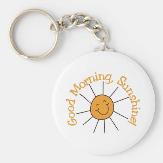 Good Morning Sunshine Keychain