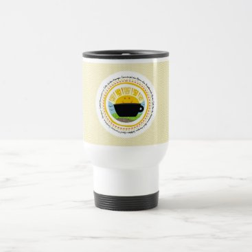 Coffee Themed GOOD MORNING SUNSHINE Multilingual Travel Mug