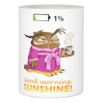 Good morning sunshine owl flameless candle