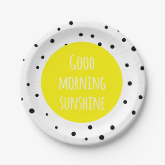 Good Morning Sunshine | Polka Dots Paper Plates