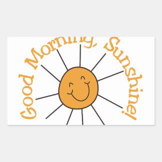 Good Morning Sunshine Rectangular Sticker