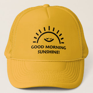 Good morning sunshine trucker hat