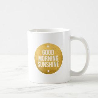 good morning sunshine, word art, text design coffee mug
