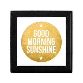 good morning sunshine word art text design keepsake box