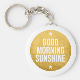 good morning sunshine, word art, text design keychain