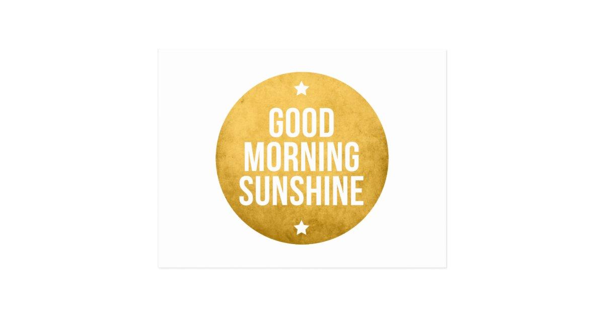 Good Morning Sunshine Words : Good morning sunshine word art text design postcard zazzle