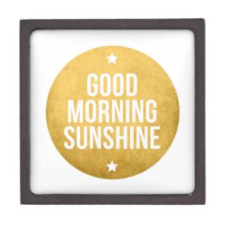 good morning sunshine word art text design premium keepsake box