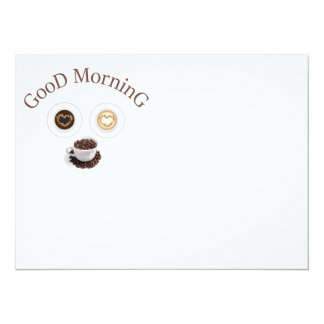 Good morning with coffee card