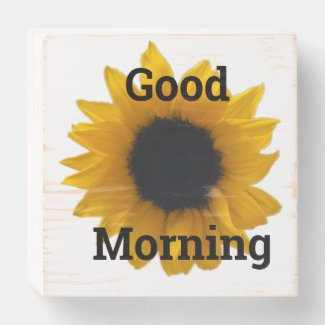 GOOD MORNING wooden box sign