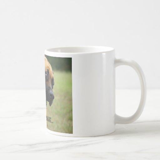 Good Morning - Yawning English Mastiff Dog Coffee Mugs