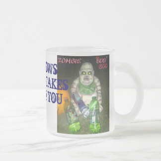 GOOD MORNING ZOMBIE BOO BOO FROSTED GLASS COFFEE MUG