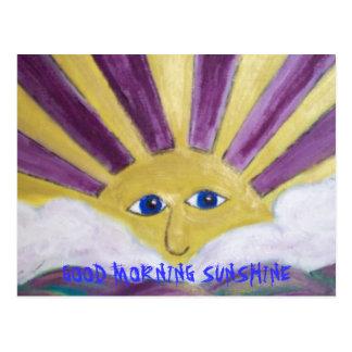 GOOD MORNINGG SUNSHINE POSTCARD