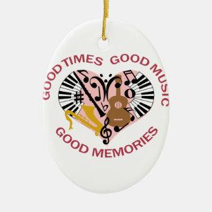 Good Music Ceramic Ornament