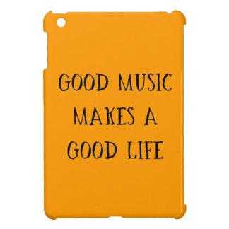 GOOD MUSIC MAKES A GOOD LIFE MOTIVATIONAL ATTITUDE COVER FOR THE iPad MINI