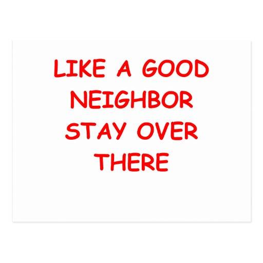 good neighbor postcards