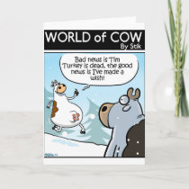 Good news bad news holiday card