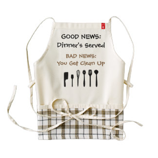 Good News, Bad News Zazzle HEART Apron