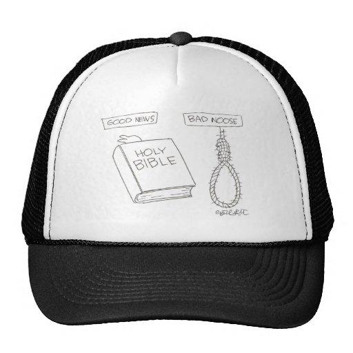 Good news (BIBLE), Bad noose (hangman's noose) Mesh Hats