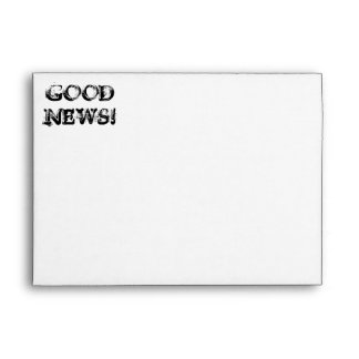Good News! Classic Greeting Card Envelope