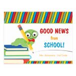 Good News From School with Bookworm Post Cards