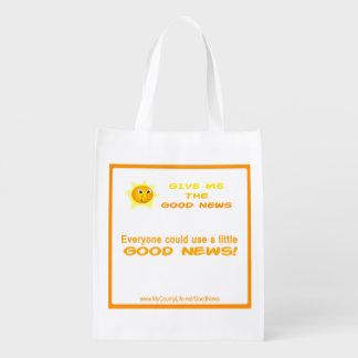 Good News Reusable Bag - Double-Sided Grocery Bags