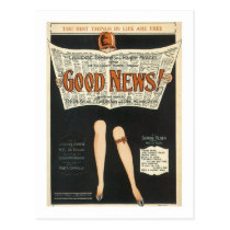 Good News! Vintage Songbook Cover Postcard