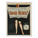 Good News! Vintage Songbook Cover Poster