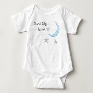 Good Night (Baby's Name) Blue Moon and Stars Dream Baby Bodysuit