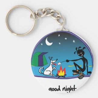 """""""Good Night!"""" Basic Round Button Keychain"""