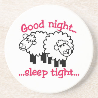 Good Night Beverage Coaster